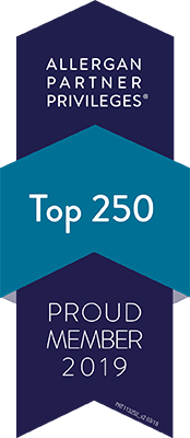 Proud, top 250 member of the Allergan Partner Privilege program