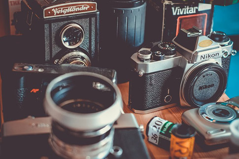 old-school cameras & film